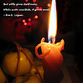 Christmas Candle Greeting by Ausra Huntington nee Paulauskaite