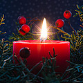 Christmas Candle by Pat Lucas