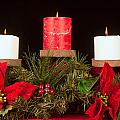 Christmas Candle Trio by Kenneth Sponsler