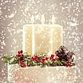 Christmas Candles by Amanda Elwell