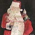Christmas Card - Santa Checking His List by Jan Dappen