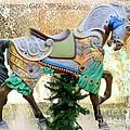 Christmas Carousel Warrior Horse-1 by Mary Deal