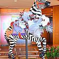 Christmas Carousel Zebra by Mary Deal