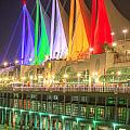 Christmas Colors At Canada Place by Sabine Edrissi
