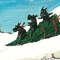 Christmas Day Scottie Style by Margaryta Yermolayeva