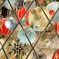 Christmas Decorations In Window by Anonymous