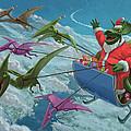 Christmas Dinosaur Santa Ride by Martin Davey