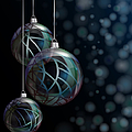 Christmas Elegant Glass Baubles by Jane Rix
