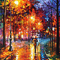 Christmas Emotions - Palette Knife Oil Painting On Canvas By Leonid Afremov by Leonid Afremov