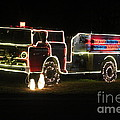 Christmas Fire Truck 2 by Michelle Powell