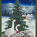 Christmas Geese by Lynn Bywaters