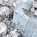 Christmas Gift Box And Decorations by Elena Elisseeva