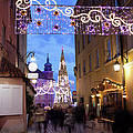 Christmas Illumination On Piwna Street In Warsaw by Artur Bogacki
