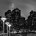 Christmas In Nyc Black And White by JC Findley