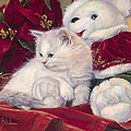 Christmas Kitten by Lucie Bilodeau