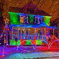 Christmas Lights - Sqaure by Chris Bordeleau