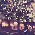 Christmas Lights Retro Purple Mauve Holiday Photograph by Elle Moss