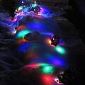 Christmas Lights Under Snow by Karen Majkrzak