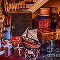 Christmas Luggage Color by Iris Richardson