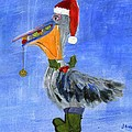 Christmas Pelican by Jamie Frier