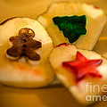 Christmas Potato Stamps by Iris Richardson