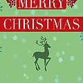 Christmas Reindeer Greeting Card by K D Graves