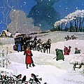 Christmas Scene by English School