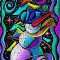 Christmas Snowman by Leon Zernitsky