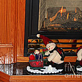 Christmas - Snowmen Collection- Fireplace by Barbara Griffin