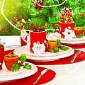 Christmas Table Setting by Anna Om