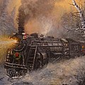 Christmas Train In Wisconsin by Tom Shropshire
