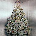 Christmas Tree Decorated By Gloria Vanderbilt by Ernst Beadle