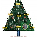 Christmas Tree Motherboard by Mary Helmreich