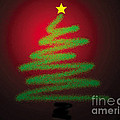 Christmas Tree With Star by Genevieve Esson