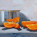 Chrome And Oranges by Nancy Merkle