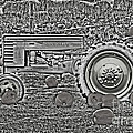 John Deere On The Farm Monochromatic Chrome Finish by Minding My  Visions by Adri and Ray