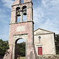 Chruch In Perithia Corfu by Neil Overy