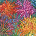 Chrysanthemums Like Fireworks by Kendall Kessler
