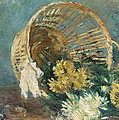 Chrysanthemums Or The Overturned Basket by Berthe Morisot