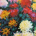 Chrysanthemums by Pg Reproductions