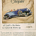 Chrysler 1928 1920s Usa Cc Cars by The Advertising Archives