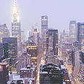 Chrysler Building And Skyscrapers Covered In Snow - New York City by Vivienne Gucwa