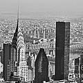 Chrysler Building New York Black And White by Steve Purnell
