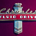 Chrysler Fluid Drive Emblem by Jill Reger