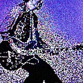 Chuck Berry Rocks Abstract by Saundra Myles