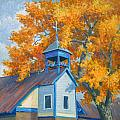 Church And Cottonwoods by Douglas Turner