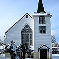 Paramus Nj - Church And Steeplechurch And Steeple by Frank Romeo