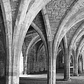 Church Archways In Black And White by Susan Leonard
