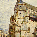 Church At Moret After The Rain by Alfred Sisley
