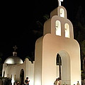 Church At Night In Playa Del Carmen by Roupen Baker